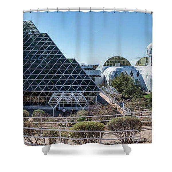 View Of Biosphere 2, Tucson, Arizona Shower Curtain