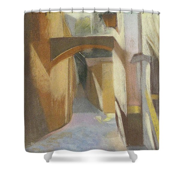 View Of Italian Arch Shower Curtain