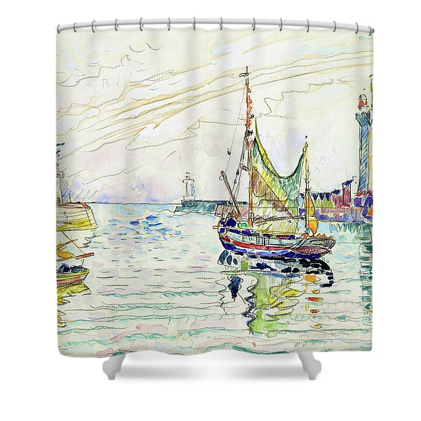 View Of Les Sables D'olonne - Digital Remastered Edition Shower Curtain