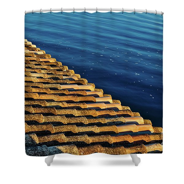 View Of The River From The Rooftop. Algarve Shower Curtain