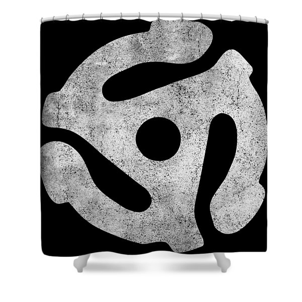 Vintage 45 Rpm Record Adapter Shower Curtain