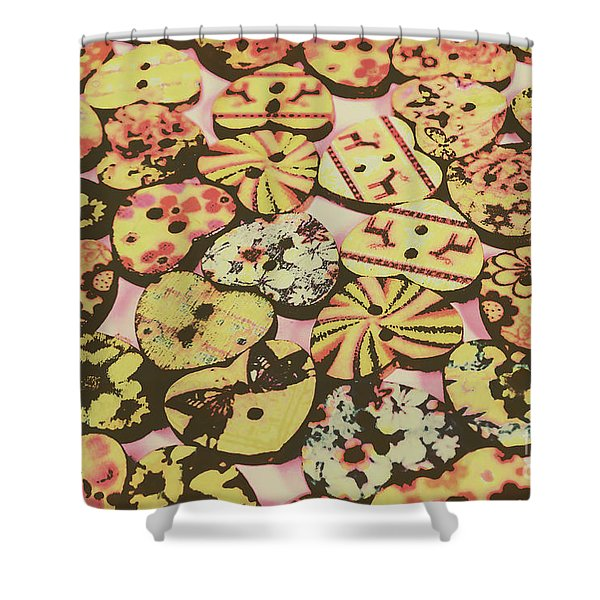 Vintage Dressmaking Designs Shower Curtain
