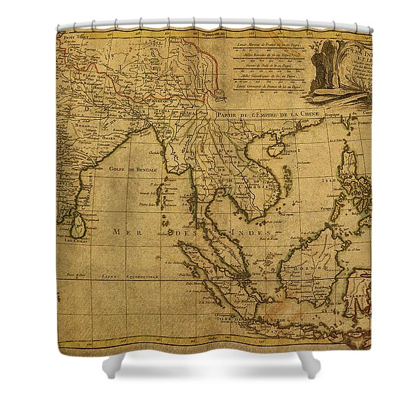 Vintage Map Of Southeast Asia 1770 Shower Curtain