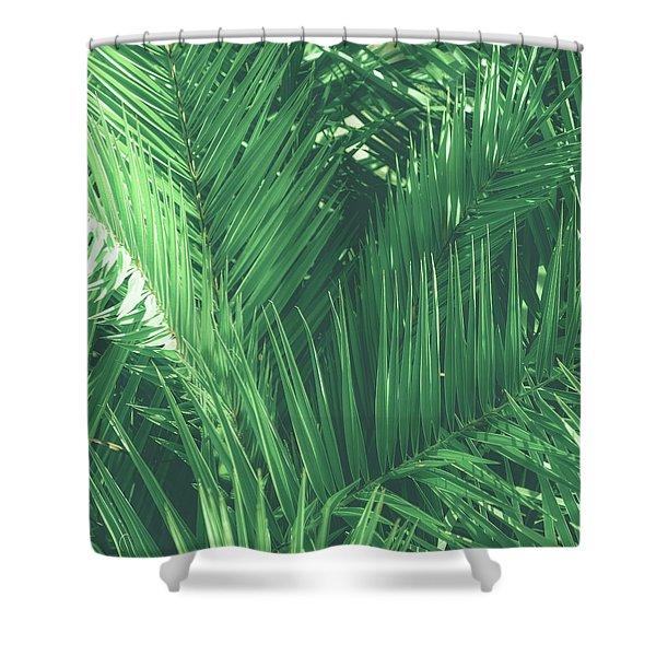 Vintage Palms I Shower Curtain