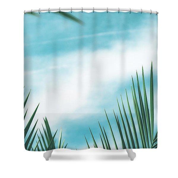 Vintage Palms II Shower Curtain