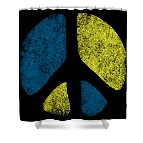 Vintage Peace Sign Shower Curtain