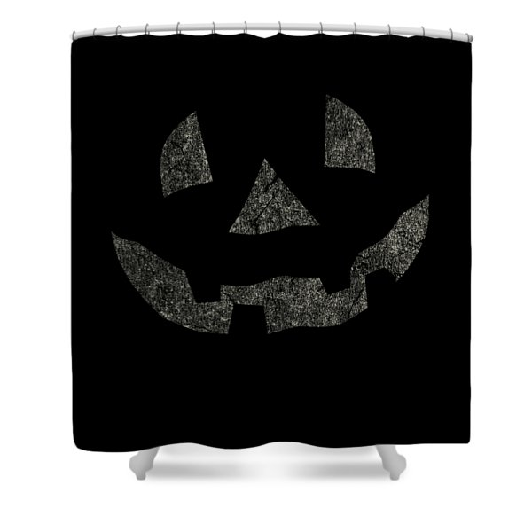 Vintage Pumpkin Face Shower Curtain