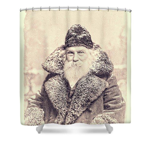 Vintage Santa Claus Portrait 11 Shower Curtain