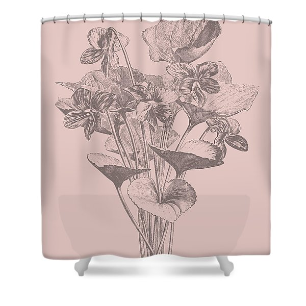 Viola Cucullate Blush Pink Flower Shower Curtain