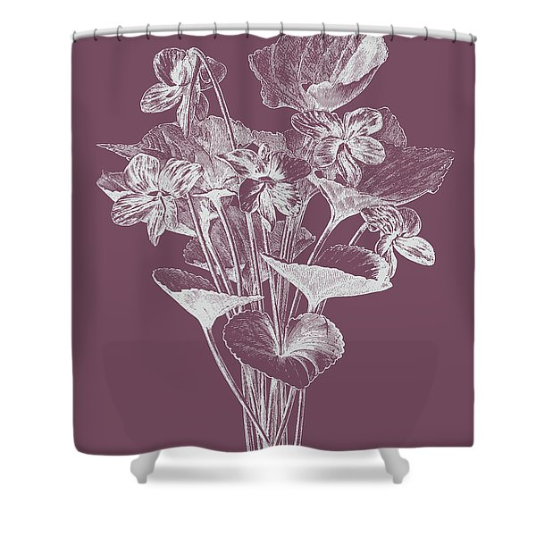 Viola Cucullate Purple Flower Shower Curtain