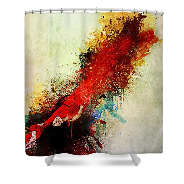 Violently Happy Shower Curtain