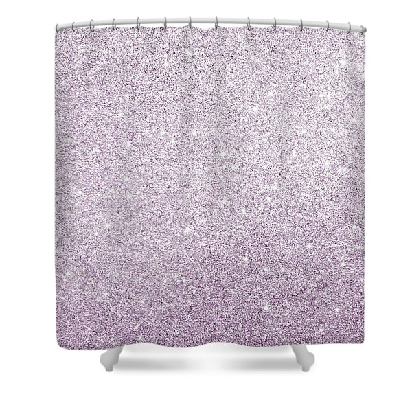 Violet Glitter Shower Curtain
