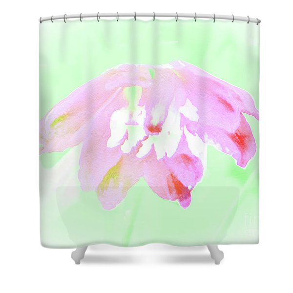 Violet Red Islamic Flora Shower Curtain