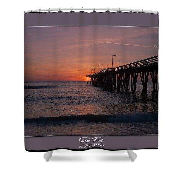 Virginia Beach Sunrise Shower Curtain