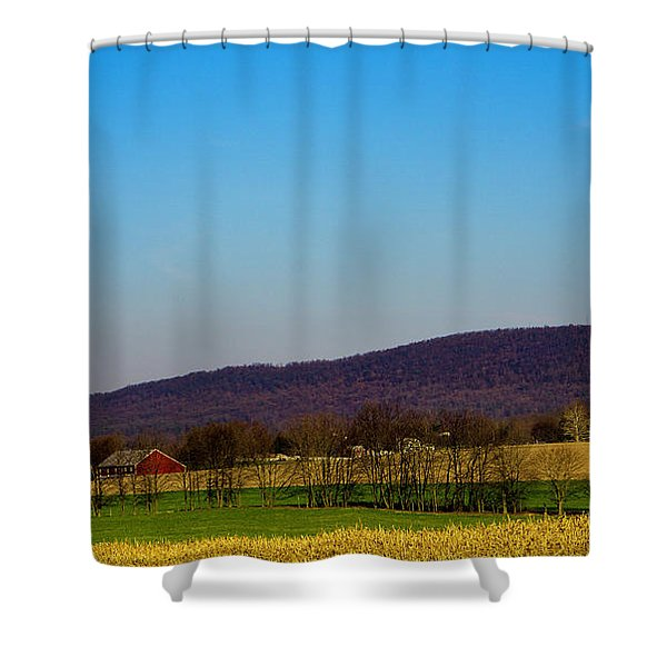 Virginia Mountain Landscape Shower Curtain