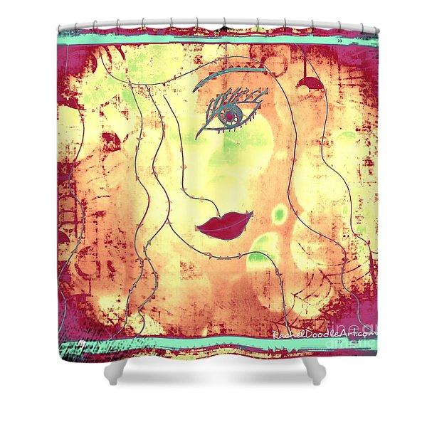 Visage De Lumiere Shower Curtain