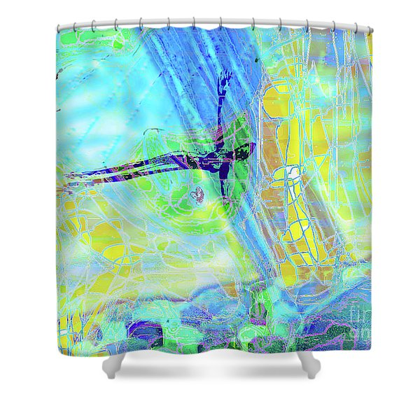 Visions At Sea  Shower Curtain