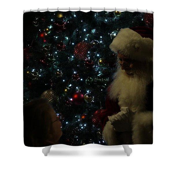 Visit With Santa Shower Curtain