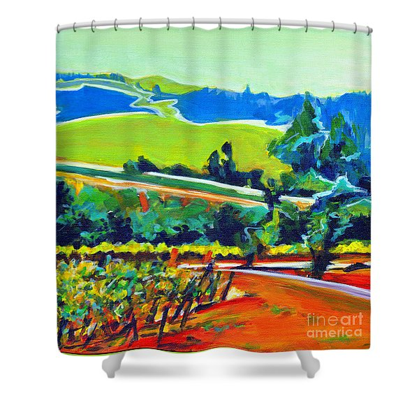 Vistas And Vineyards Shower Curtain