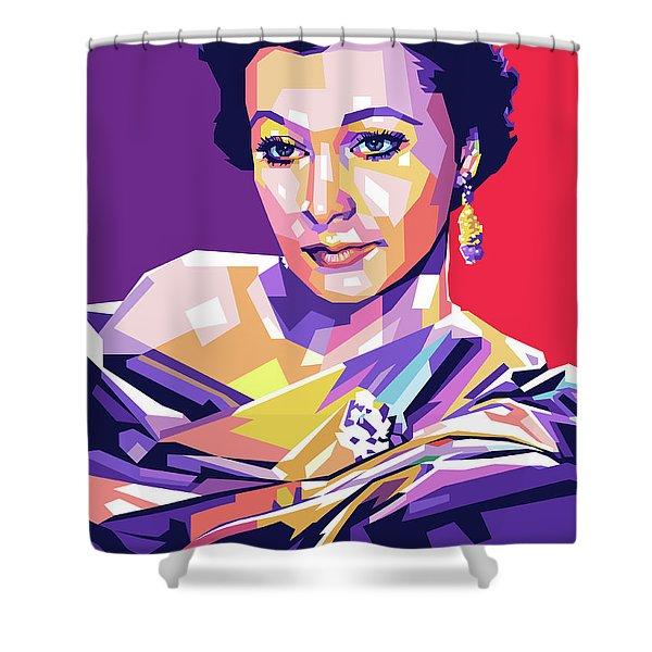 Vivien Leigh Pop Art Shower Curtain