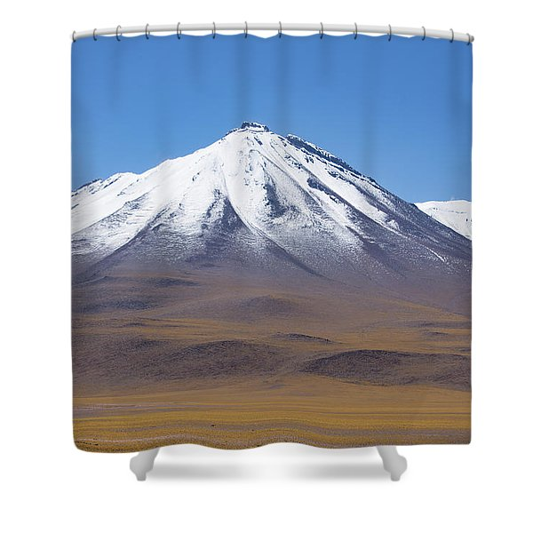 Volcano On The Altiplano Shower Curtain