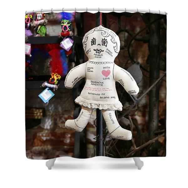 Voodoo Diet Doll Shower Curtain