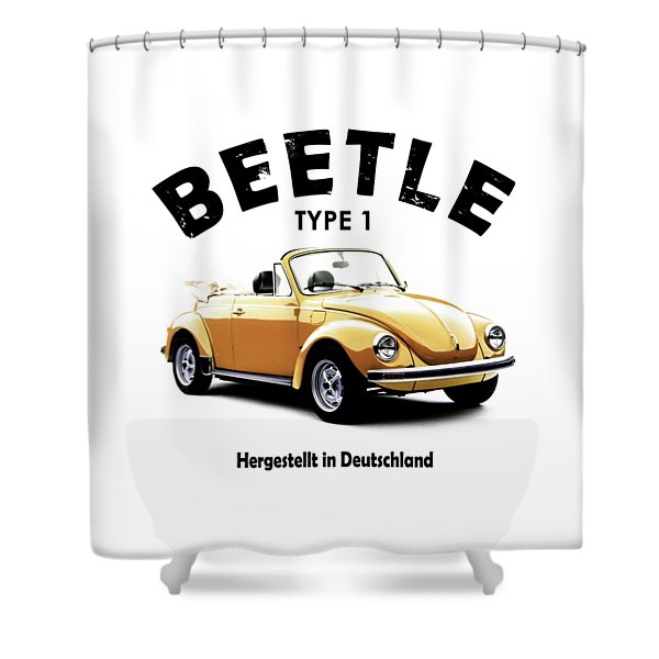 Vw Beetle 1972 Shower Curtain