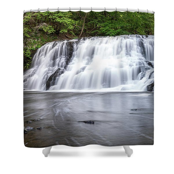 Wadsworth Falls In Middletown, Connecticut U.s.a.  Shower Curtain