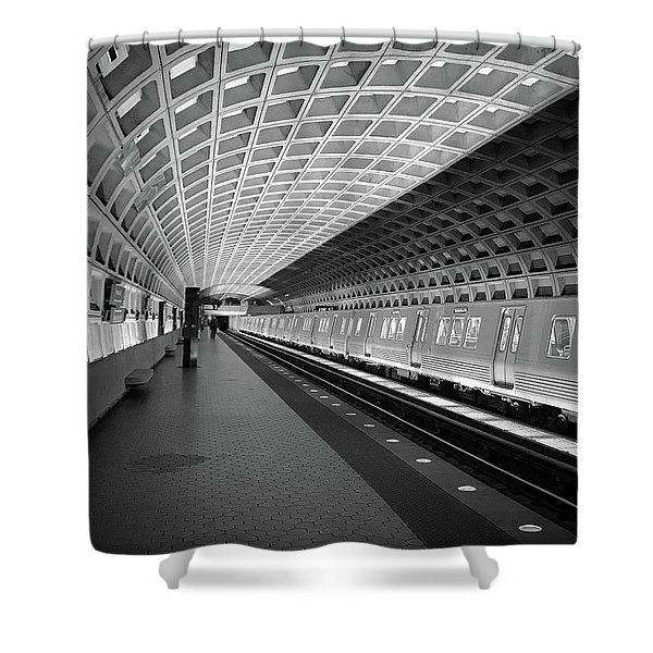 Waiting At Pentagon City Station Shower Curtain