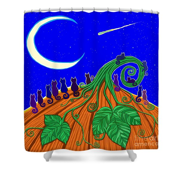 Waiting For Halloween Shower Curtain