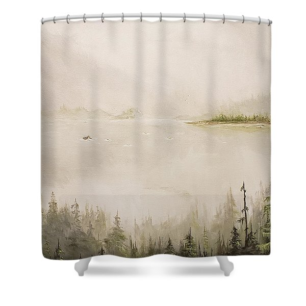 Waiting For The Eagle To Come Shower Curtain