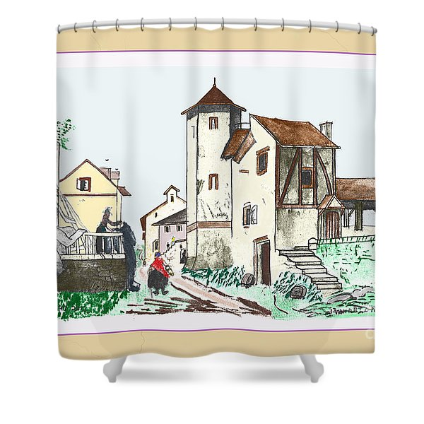 Walk Through Town Shower Curtain