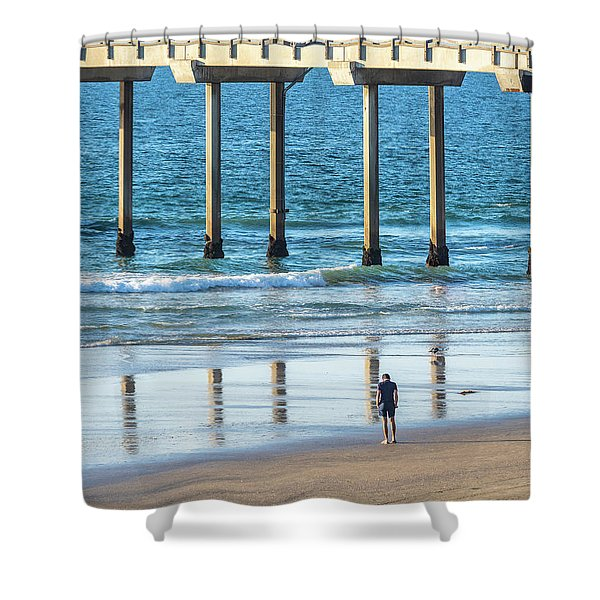 Walk To The Pier Shower Curtain
