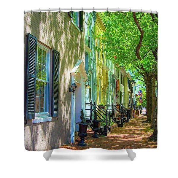 Walking On Duke Street Shower Curtain