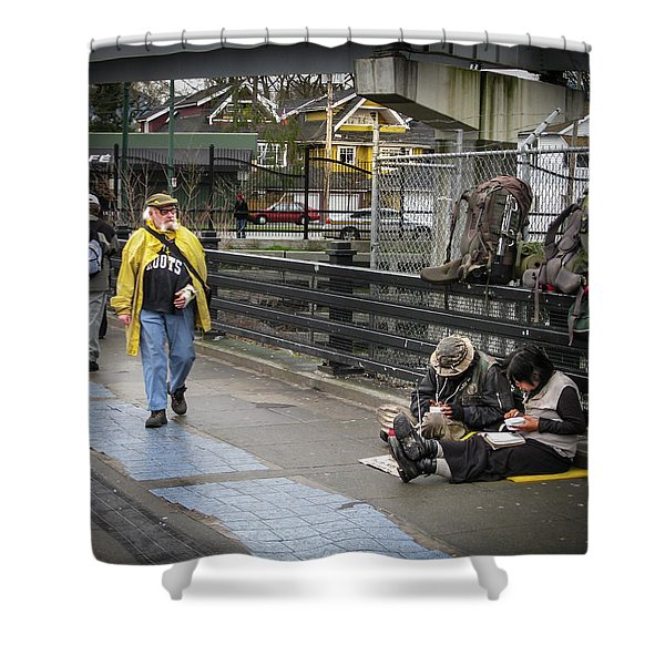 Walking-travellers Shower Curtain