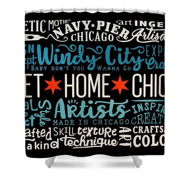 Wall Art Chicago Shower Curtain