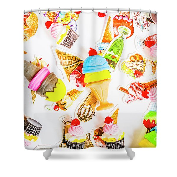 Wall Of Sweetness Shower Curtain