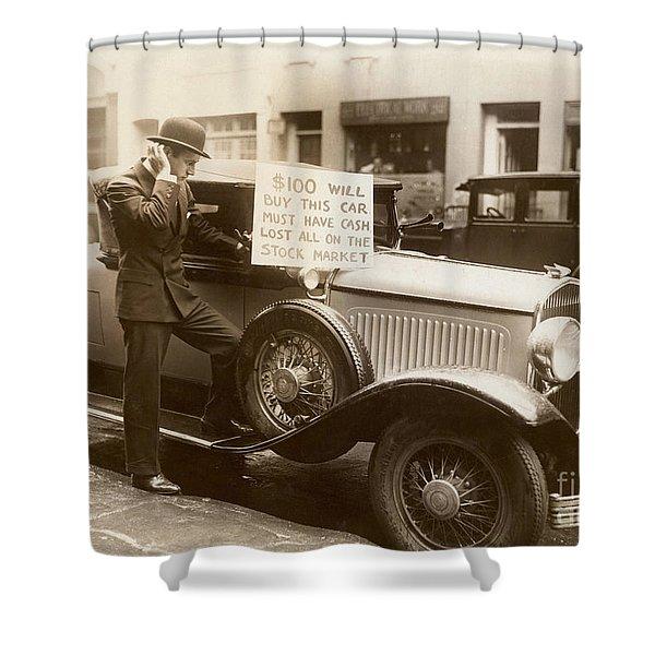 Wall Street Crash, 1929 Shower Curtain