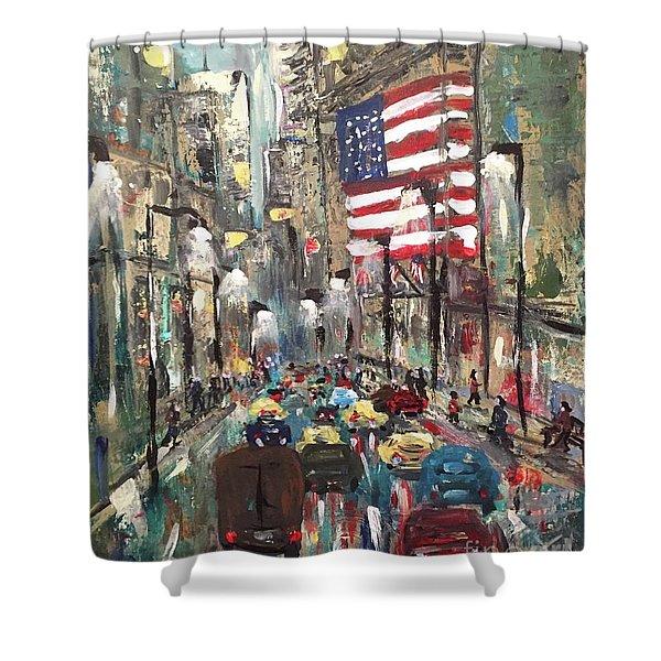 wall street NY Shower Curtain
