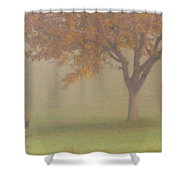 Walnut Farmer, Beynac, France Shower Curtain