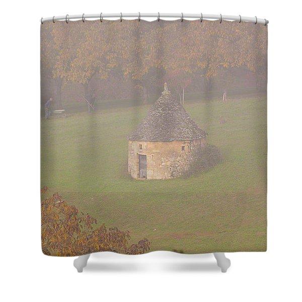 Walnut Farmers, Beynac, France Shower Curtain