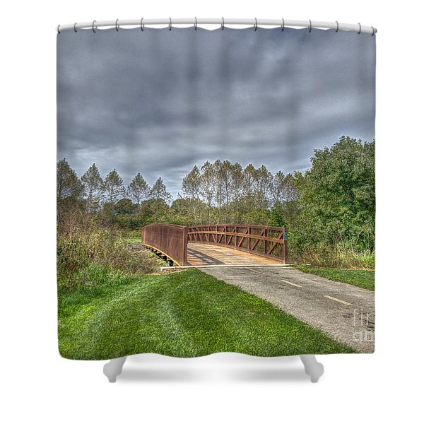 Walnut Woods Bridge - 2 Shower Curtain