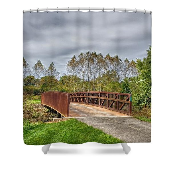 Walnut Woods Bridge - 3 Shower Curtain