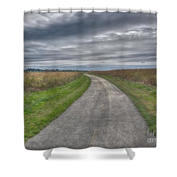 Walnut Woods Pathway - 1 Shower Curtain