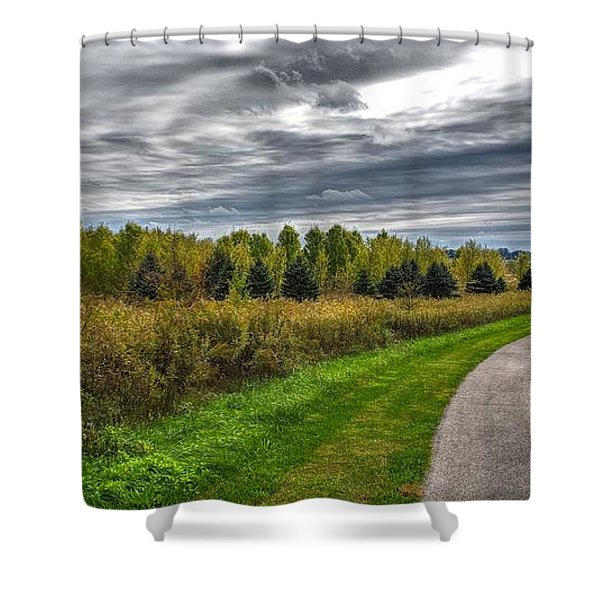 Walnut Woods Pathway - 2 Shower Curtain