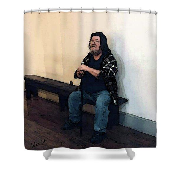 Walt Sitting Shower Curtain