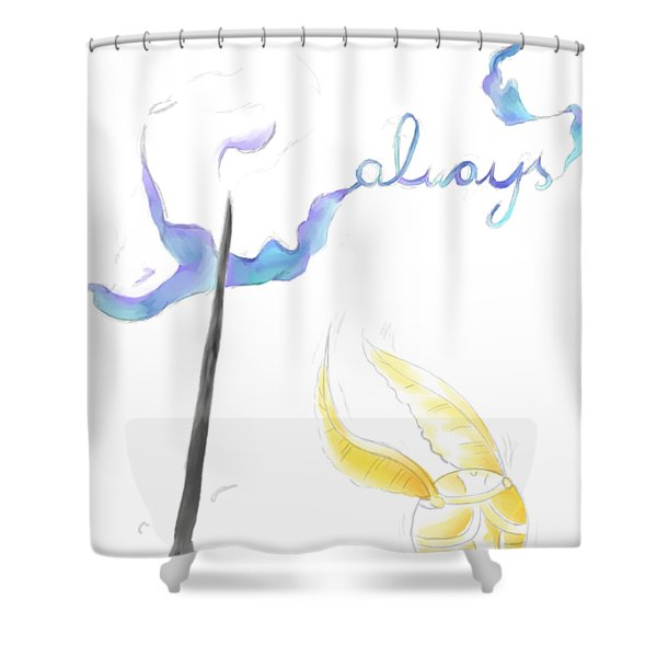 Wand And Snitch Shower Curtain