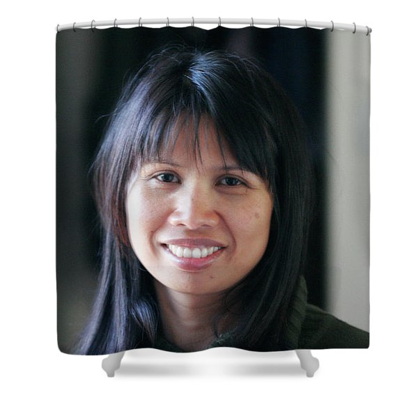 Waree's Lovely Smile Shower Curtain