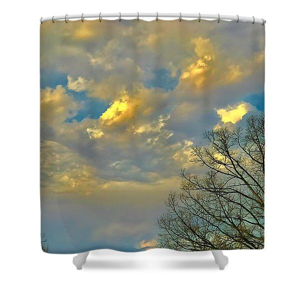 Warm And Cool Sky Shower Curtain