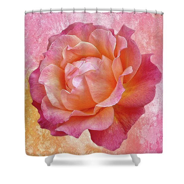 Warm And Crunchy Rose Shower Curtain